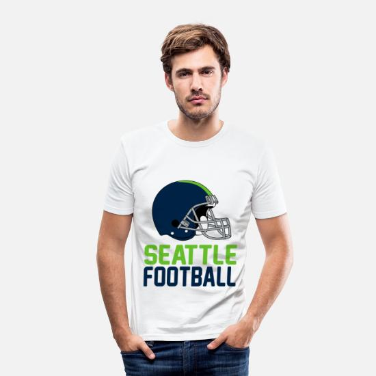 Seattle Camisetas - casco de Seattle - Camiseta ajustada hombre blanco