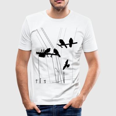 Hipster AD Birds - Men's Slim Fit T-Shirt