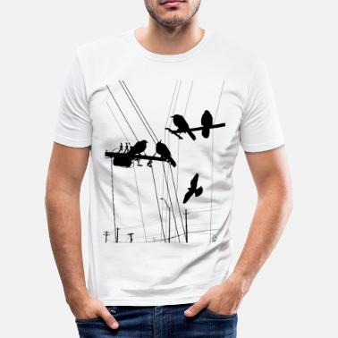 Hitchcock AD Birds - Men's Slim Fit T-Shirt