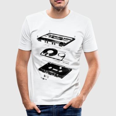 Kassette Schwarz - Tape - Audio - 80s - Männer Slim Fit T-Shirt