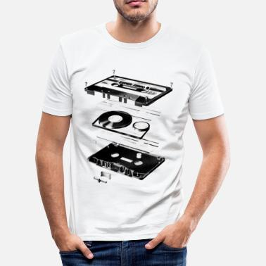 Cassette Compact Cassette- Tape - Music - 80s - slim fit T-shirt
