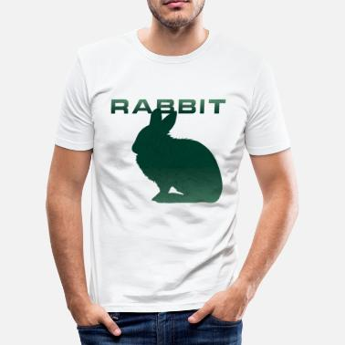 Renner Bunny Renner Runner Rabbit - Men's Slim Fit T-Shirt