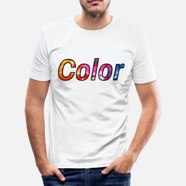 Colourful colour - Men's Slim Fit T-Shirt