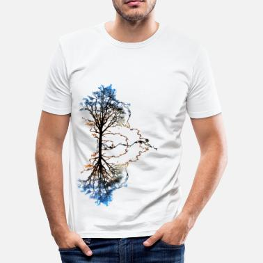 Graphique Two Trees - T-shirt près du corps Homme