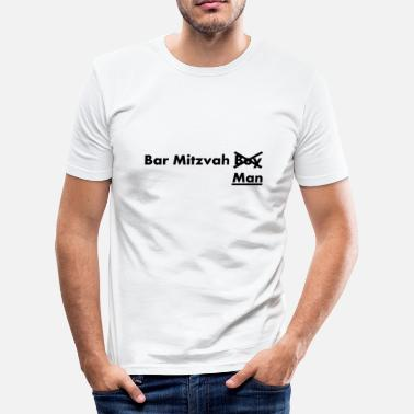 Woordspeling Bar Mitvah man grappige spreuken - slim fit T-shirt