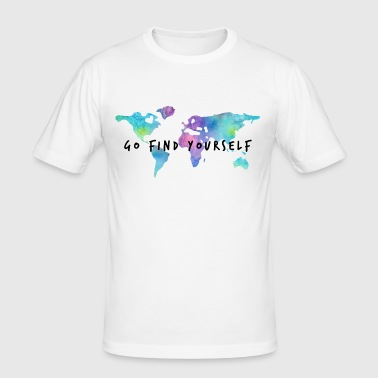 Go Find Yourself - Travel The World - Männer Slim Fit T-Shirt