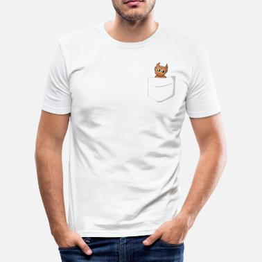 Poket Owl in shirt pocket - Men's Slim Fit T-Shirt