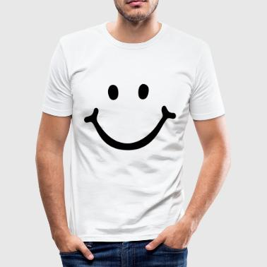 Smiley Face - Men's Slim Fit T-Shirt