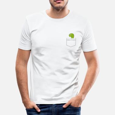 Pocket Animals Pocket worm - Men's Slim Fit T-Shirt