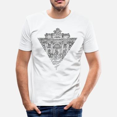 Brunnen 287 ROM - Männer Slim Fit T-Shirt
