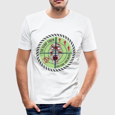 Zombie Outbreak Aim for the Head - Men's Slim Fit T-Shirt