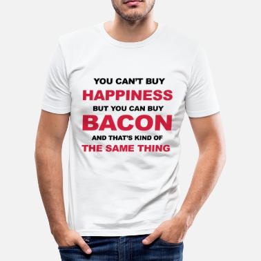 Funny Bacon Bacon - Men's Slim Fit T-Shirt