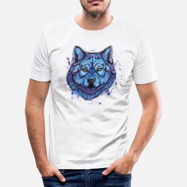Animal Collection lobo - Camiseta ajustada hombre