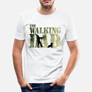 Walking Dad The walking Dad - Zombie - Papa -Humor-Baby-Vater - Camiseta ajustada hombre