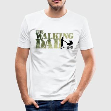 The walking Dad - Zombie - Papa -Humor-Baby-Vater - T-shirt près du corps Homme