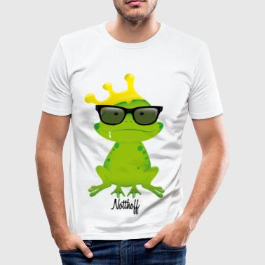 Nerd Frog N - Men's Slim Fit T-Shirt