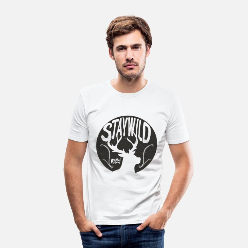 Animal Planet T-Shirts - Animal Planet deer Men T-Shirt - Men's Slim Fit T-Shirt white