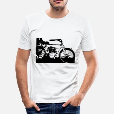 Moto Love moto oldtimer - Men's Slim Fit T-Shirt