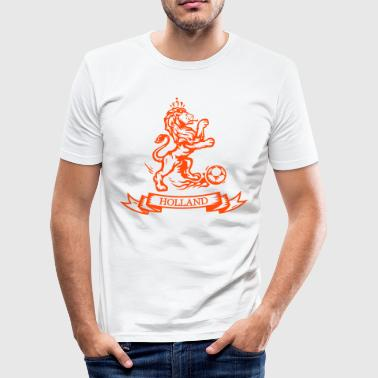 Dutch Football Vintage Dutch Football lion Holland jersey - Men's Slim Fit T-Shirt