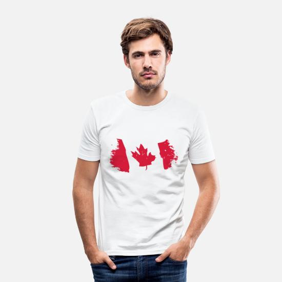 Canada T-shirts - Canadian Maple Leaf - T-shirt moulant Homme blanc
