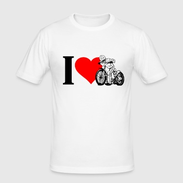 I Love Speedway - Men's Slim Fit T-Shirt