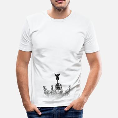 Quadriga Around the World: Quadriga - Berlijn - slim fit T-shirt