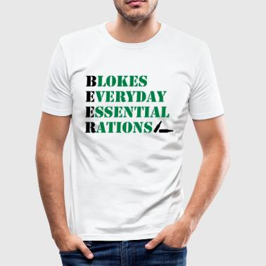 Bloke Blokes Everyday Essential Rations - Men's Slim Fit T-Shirt