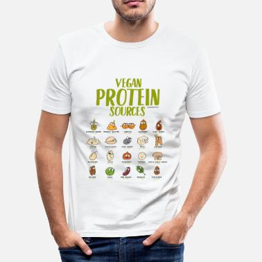 Veganism Vegan protein t-shirt for Vegans and Vegetarians - Men's Slim Fit T-Shirt