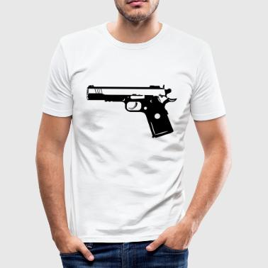 9mm Gun Weapon 1c - Men's Slim Fit T-Shirt