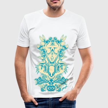 Fractal Mix - Slim Fit T-shirt herr
