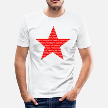 Star blah blah blah - star red - idea de regalo - Camiseta ajustada hombre