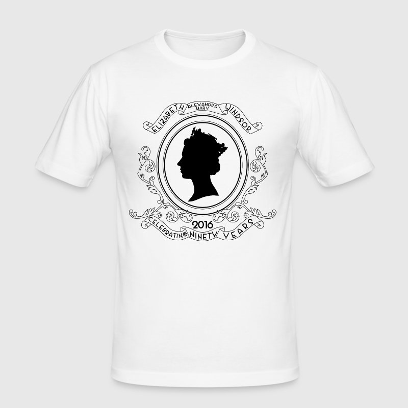 Queen Elizabeth Birthday Commemorative - Men's Slim Fit T-Shirt
