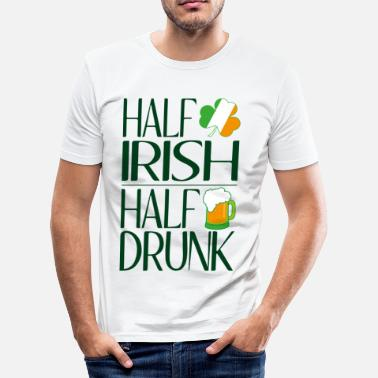 Fourleaf Clover Half Irish half drunk - Men's Slim Fit T-Shirt