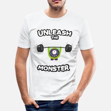 Fitness Unleash the Monster - Männer Slim Fit T-Shirt