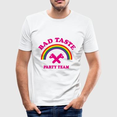 Bad Taste Party Team (Unicorn / Rainbow /  Cooper) - Men's Slim Fit T-Shirt