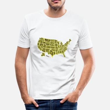 Tætne USA stater - Herre Slim Fit T-Shirt