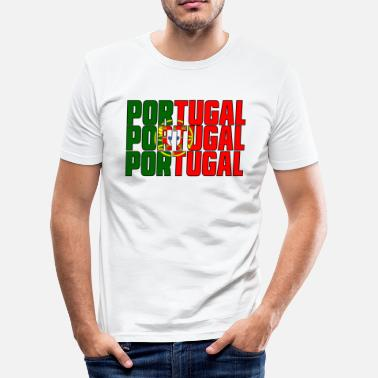 Country Flag PORTUGAL in COUNTRY COLORS FLAG FLAG - Men's Slim Fit T-Shirt