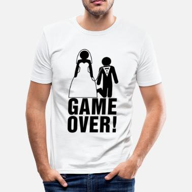 Sposo Game Over Addii al celibato | lo sposo | Game Over! - Maglietta aderente da uomo
