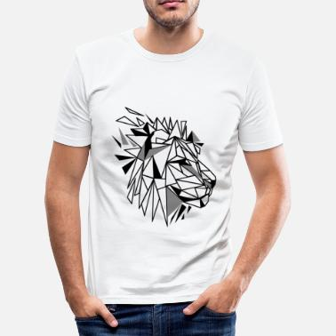 Polygonal Polygon Lion - Men's Slim Fit T-Shirt