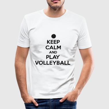 Beach-volleyball Keep calm and play volleyball - Camiseta ajustada hombre