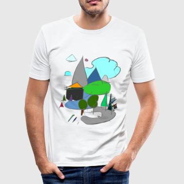 Architecture Funny Architecture mountains - Men's Slim Fit T-Shirt