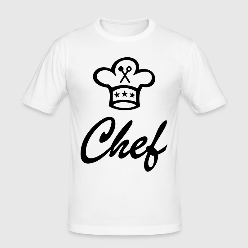 koksmuts voor de chef-kok koken - slim fit T-shirt