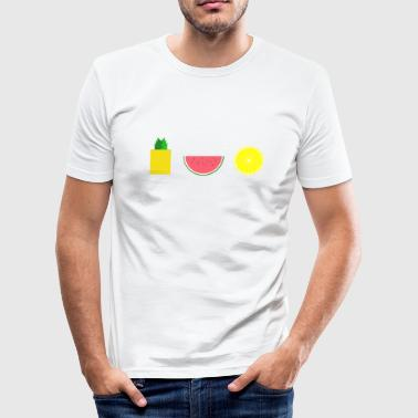 DIGITAL FRUIT Ananas Zitrone Melone - Männer Slim Fit T-Shirt
