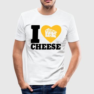 I love Cheese - Slim Fit T-skjorte for menn