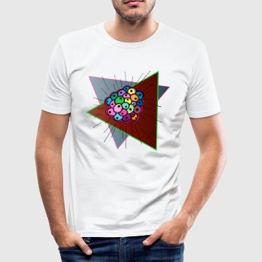 Psychedelic Fisheggs - Männer Slim Fit T-Shirt