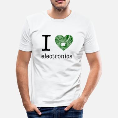 Electronic Technology I love Electronics - electronics / gift idea - Men's Slim Fit T-Shirt