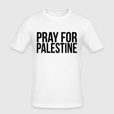 PRAY FOR PALESTINE - Men's Slim Fit T-Shirt