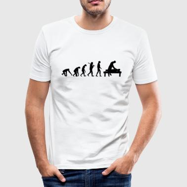 EVOLUTION BURNOUT - Men's Slim Fit T-Shirt
