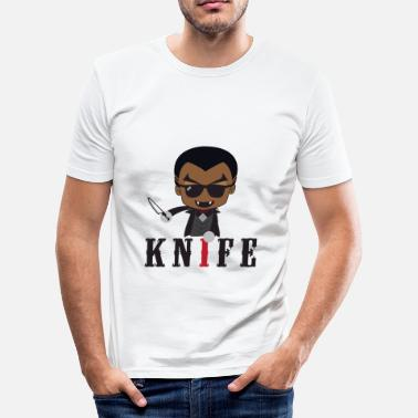 Knife Party Little Knife / Daywalker Vampyr Teen Presentasjon - Slim Fit T-skjorte for menn