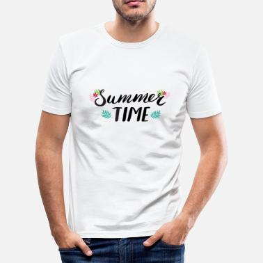 Floridezza Summer Time Black & White - Maglietta aderente da uomo